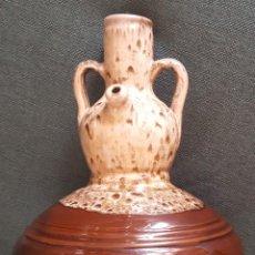 Antigüedades: ORIGINAL BOTIJO VIDRIADO. CERÁMICA ARTÍSTICA PIQUERES. AGOST (ALICANTE). Lote 166468954