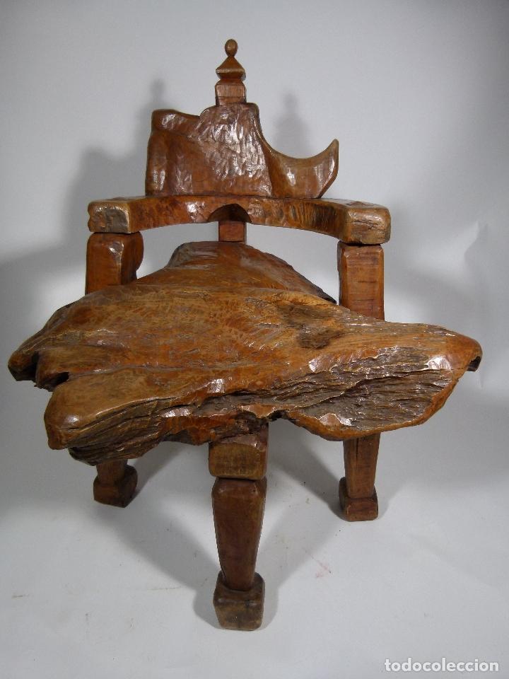 Antigüedades: SILLON ART BRUT ESCULTURA - Foto 2 - 166484450