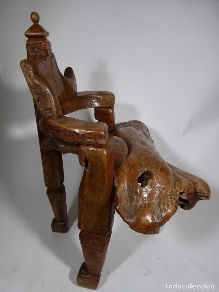 Antigüedades: SILLON ART BRUT ESCULTURA - Foto 6 - 166484450