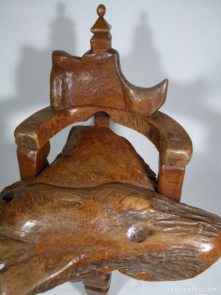 Antigüedades: SILLON ART BRUT ESCULTURA - Foto 17 - 166484450