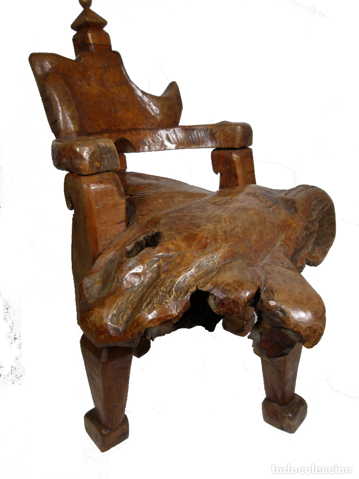 SILLON ART BRUT ESCULTURA (Antigüedades - Muebles Antiguos - Sillones Antiguos)