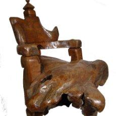 Antigüedades: SILLON ART BRUT ESCULTURA. Lote 166484450
