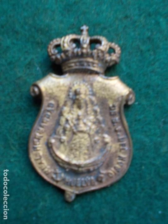 MEDALLA ANTIGUA REAL HERMANDAD DEL ROCIO HUELVA (Antigüedades - Religiosas - Medallas Antiguas)