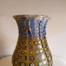 Antigüedades: JARRON ANTIGUO ESMALTE FUEGO GENIS CIRERA FIRMADO. Lote 166495620