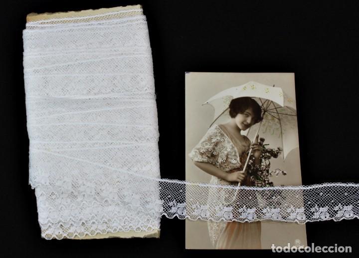115A PRECIOSO ENCAJE DE HILO PPS DEL S XX 13 METROS (Antigüedades - Moda - Encajes)