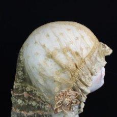 Antigüedades: 124A PRECIOSO GORRO S XIX BORDADO A MANO, PUNTO DE AGUJA. Lote 166500098