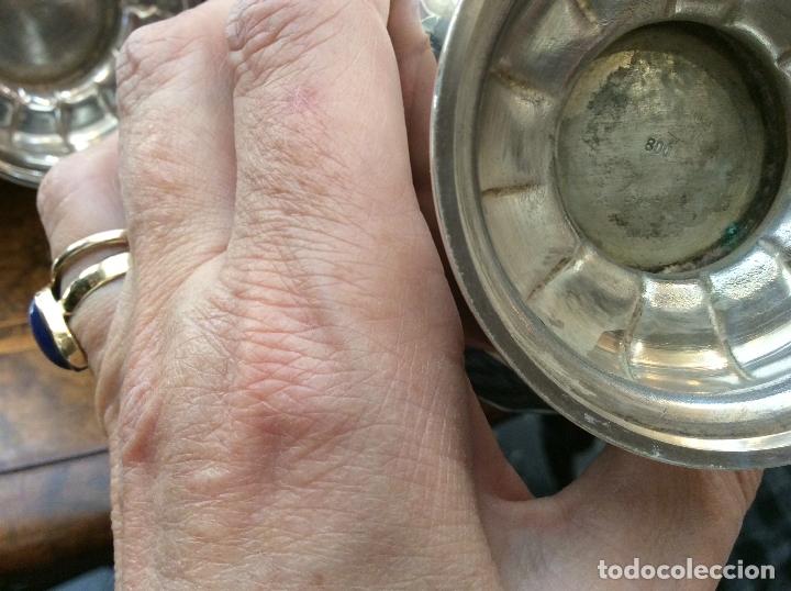 Antigüedades: JUEGO DE CAFE. PLATA DE LEY. - Foto 10 - 83416900
