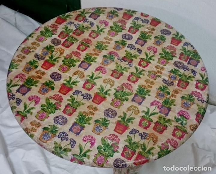 Antigüedades: mesa de pino decorada con tiestos y macetas, preciosa, muy alegre. - Foto 3 - 166538950