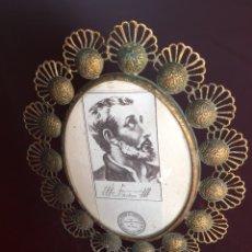 Antigüedades: MARCO CON RELICARIO. Lote 166552246