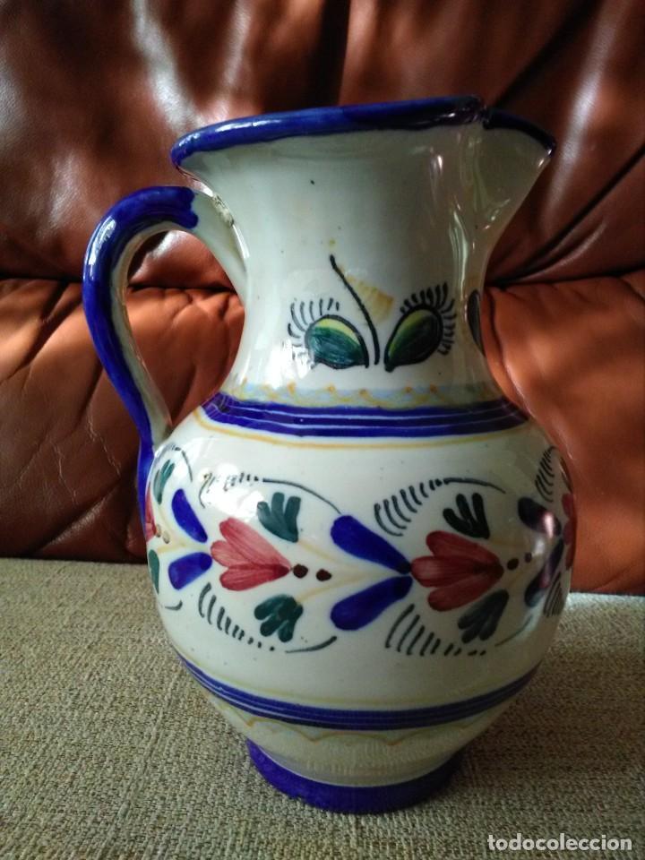 JARRA DE CERÁMICA DE TALAVERA FIRMADA M.A (Antigüedades - Porcelanas y Cerámicas - Talavera)