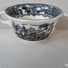 Antigüedades: TAZA CONSOMÉ. Lote 166573606