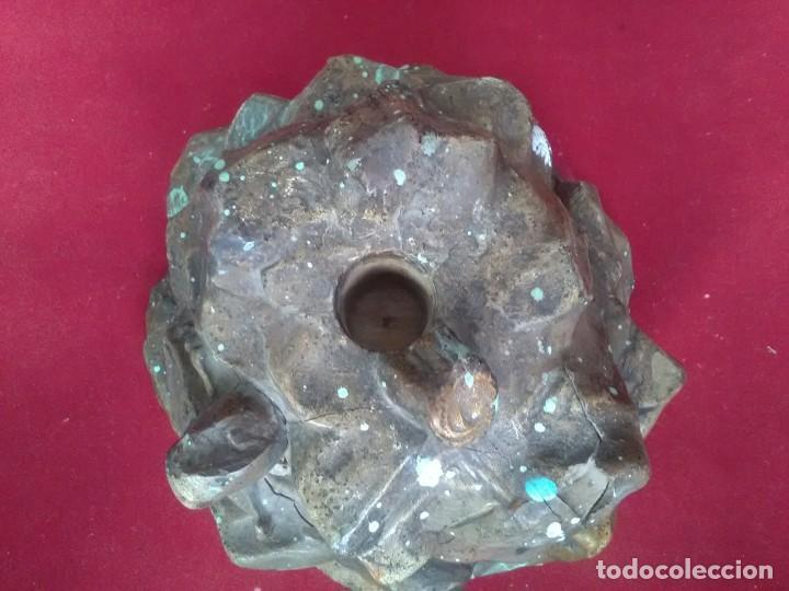 Antigüedades: Gran base estucada del monte del Calvario para una cruz de gran tamaño principio de XIX. Escasas - Foto 6 - 166588962