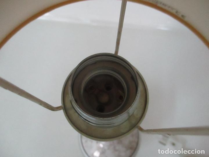 Antigüedades: Lámpara de Sobremesa - Plata de Ley, Con Contrastes - Sello Bagues - Cerámica - Años 50 - Foto 11 - 166622686