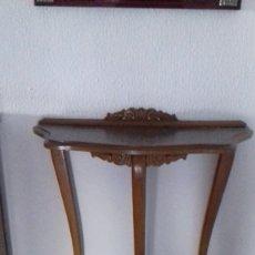 Antigüedades: MUEBLE CONSOLA DE ENTRADA. Lote 166624094