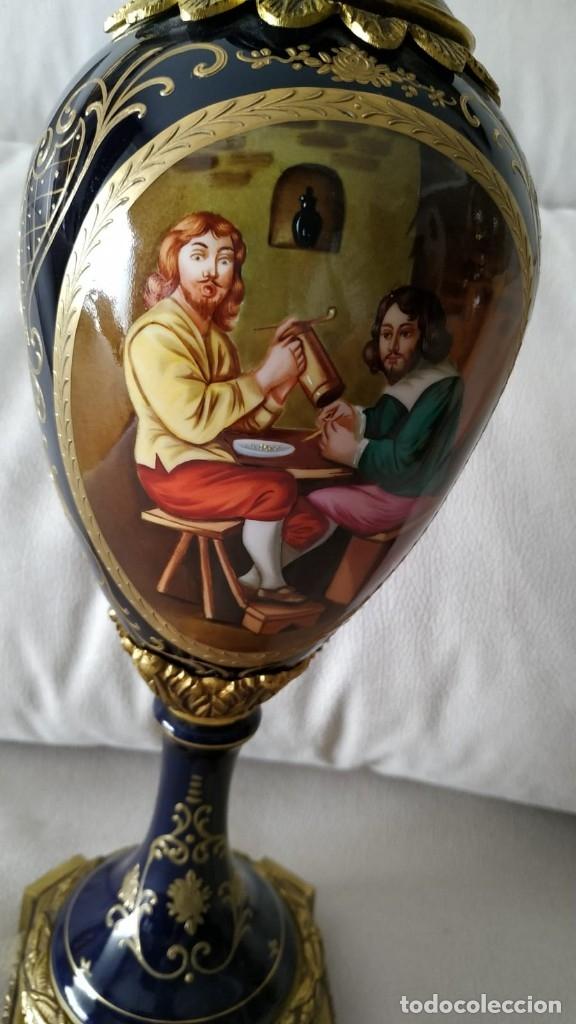 Antigüedades: Pareja de jarrones de porcelana y bronce - Foto 7 - 101937176