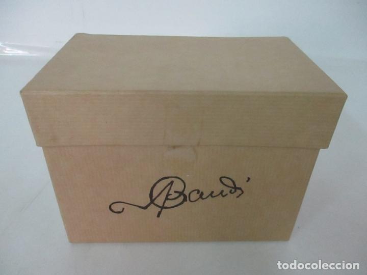 Antigüedades: Bonito Banco Miniatura - Diseño A. Gaudí - Madera - Hierro Forjado - Certificado - Caja Original - Foto 18 - 166624086