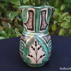 Antigüedades: JARRA DE VINO TERUEL,FIRMADA POR ISMAEL GORRIZ. Lote 166638038