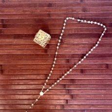 Antigüedades: PRECIOSO ROSARIO DE PLATA TRANSICCION JUAN PABLO II BENEDICTO XVI 2005 INCLUYE CAJITA PLATA. Lote 154566925