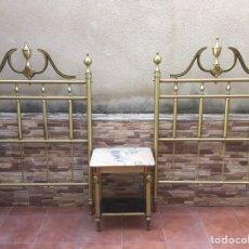 Antigüedades: 2 CABECEROS DE 90 CTM ANTIGUOS SIGLO XIX DE METAL. Lote 166683562