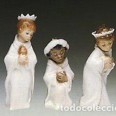 "Antiguidades: REF: 01005729 ""MINI REYES MAGOS"" LLADRÓ. Lote 155721185"