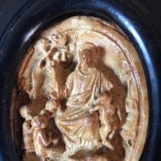Antigüedades: BENDITERA MUY ANTIGUA MARAVILLOSA TALLA (VER FOTOS). Lote 166697992