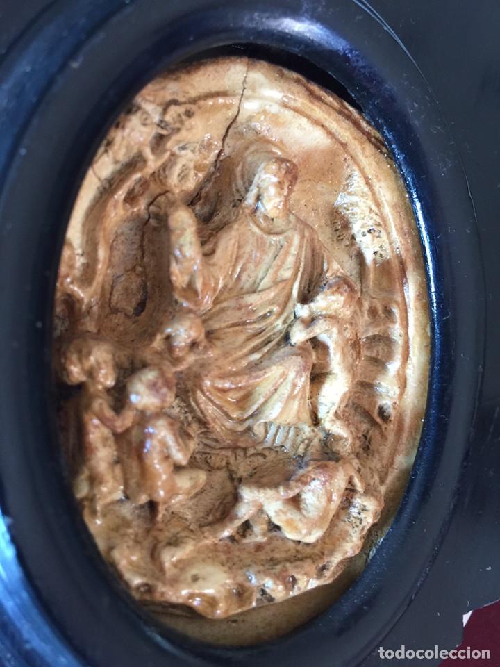 Antigüedades: Benditera muy antigua maravillosa talla (ver fotos) - Foto 2 - 166697992