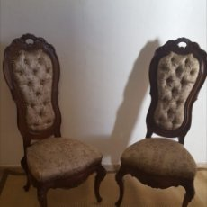 Antigüedades: SILLAS ISABELINAS MUY ANTIGUAS. Lote 166698121
