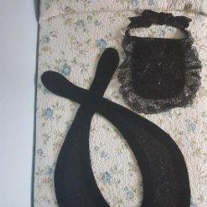 Antigüedades: DENGUE Y MANDIL TRAJE REGIONAL DE ASTURIANA / PERFECTO ESTADO / FOTOS DETALLADAS. Lote 166699250