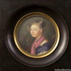 Antigüedades: MINIATURA FRANCESA S.XIX. Lote 166720405