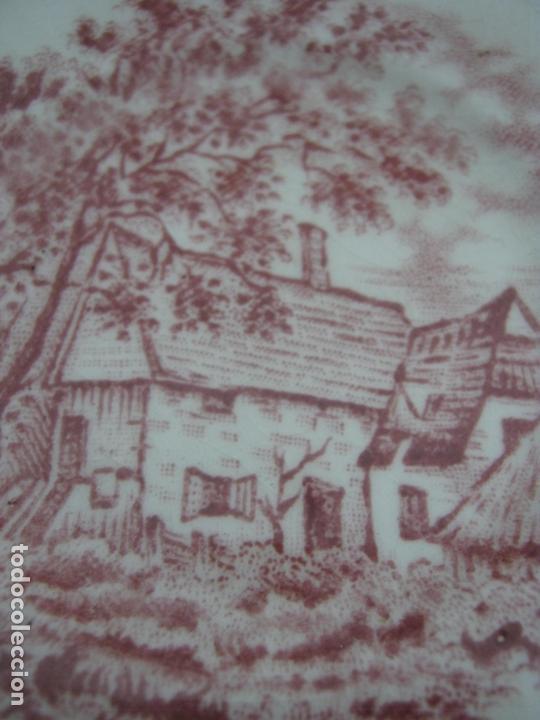 Antigüedades: Juego de cafe porcelana de Staffordshire, sellado base : cafetera lechera azucarero y 2 tazas platos - Foto 5 - 166723614