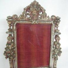 Antigüedades: IMPRESIONANTE MARCO ANTIGUO PORTA-RETRATOS . S. XIX FUNDICION. Lote 166727110