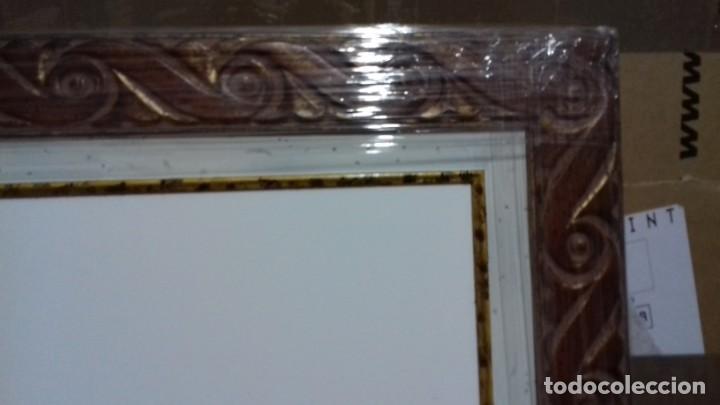 Antigüedades: MARCO NUEVO A ESTRENAR, CON COMPLEMENTO INTERIOR. INCLUYE LIENZO A MEDIDA (39,8x54,5). - Foto 4 - 166733770