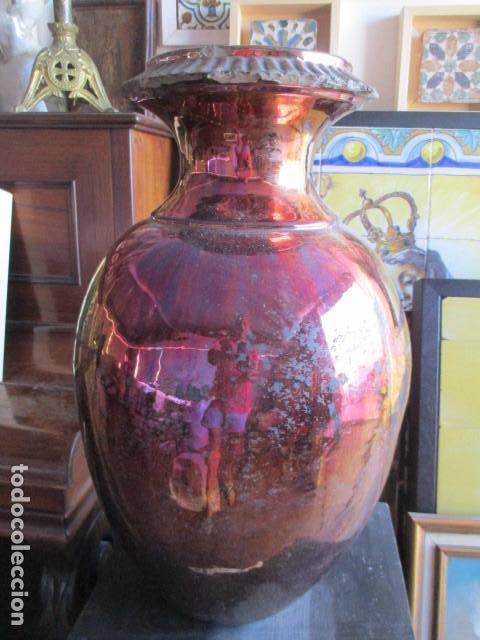 JARRON DE REFLEJOS CERAMICA DE TRIANA (Antigüedades - Porcelanas y Cerámicas - Triana)