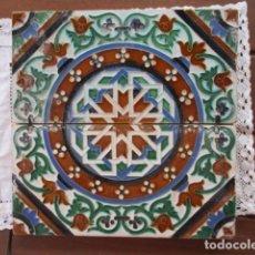 Antigüedades: PAREJA DE AZULEJOS JOSE MENSAQUE. Lote 166734558