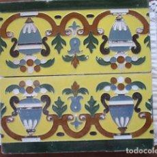 Antigüedades: PAREJA DE AZULEJOS MENSAQUE RODRIGUEZ. Lote 166734586