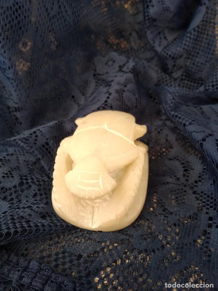 Antigüedades: figura escarabajo ateuco, símbolo de la riqueza y el bienestar egipcios - Foto 4 - 166745090