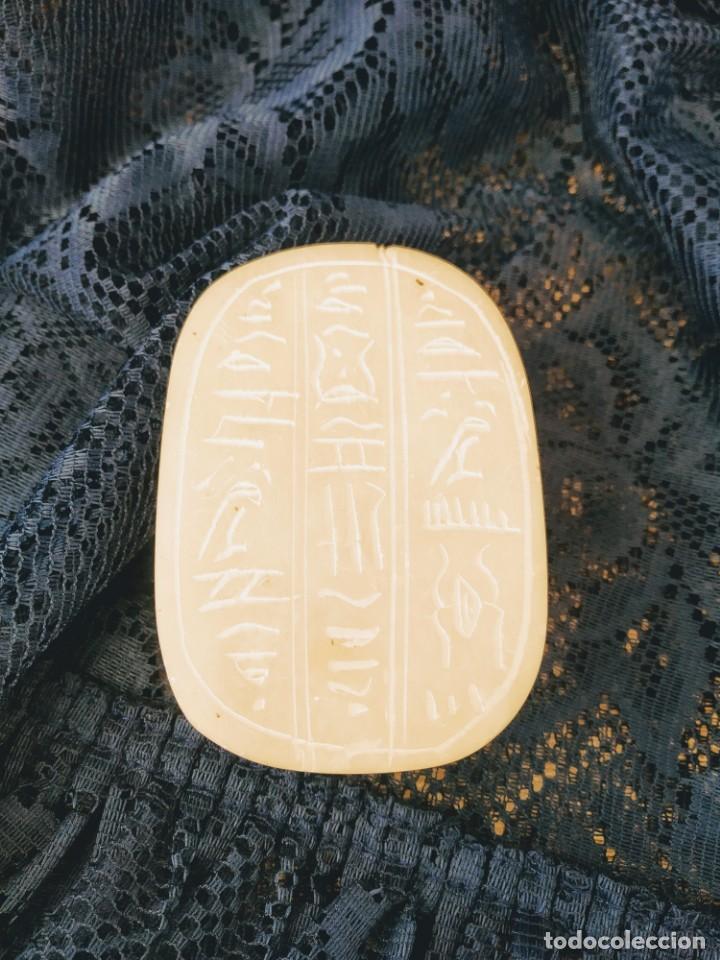 Antigüedades: figura escarabajo ateuco, símbolo de la riqueza y el bienestar egipcios - Foto 5 - 166745090
