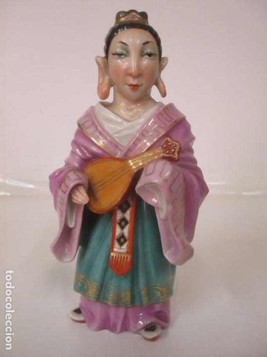 Antigüedades: Curiosas 7 Figuras Orientales - Inmortales - China - Porcelana - Sello Algora - Foto 12 - 166748922