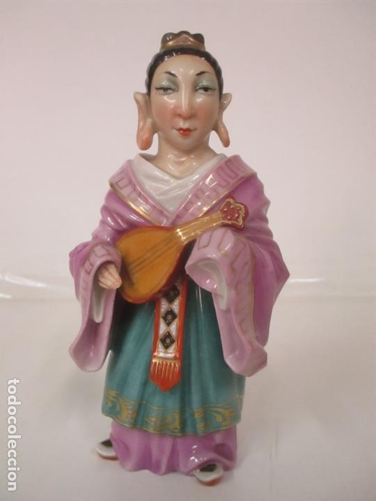Antigüedades: Curiosas 7 Figuras Orientales - Inmortales - China - Porcelana - Sello Algora - Foto 16 - 166748922