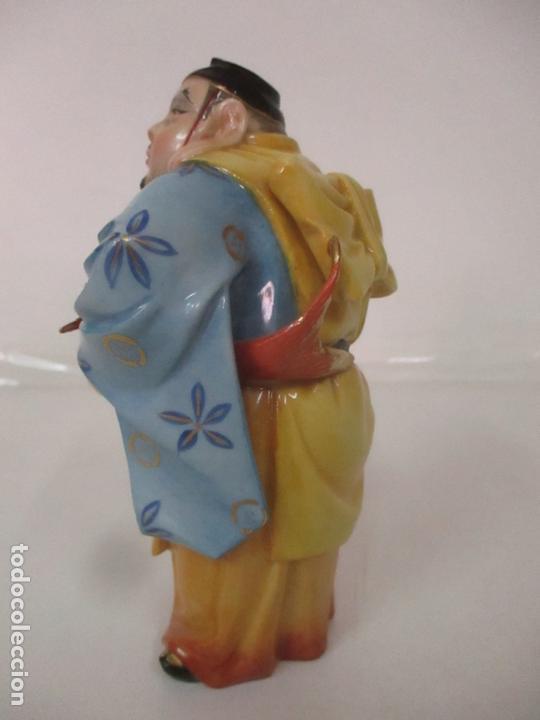 Antigüedades: Curiosas 7 Figuras Orientales - Inmortales - China - Porcelana - Sello Algora - Foto 22 - 166748922