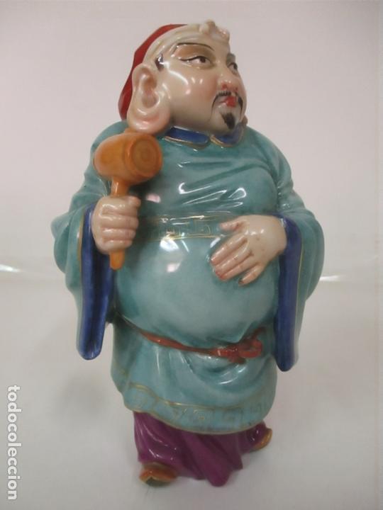 Antigüedades: Curiosas 7 Figuras Orientales - Inmortales - China - Porcelana - Sello Algora - Foto 35 - 166748922