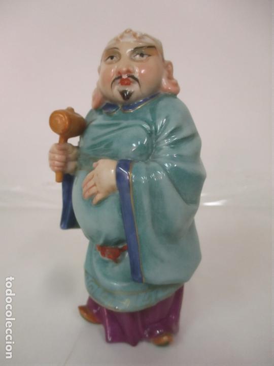 Antigüedades: Curiosas 7 Figuras Orientales - Inmortales - China - Porcelana - Sello Algora - Foto 37 - 166748922