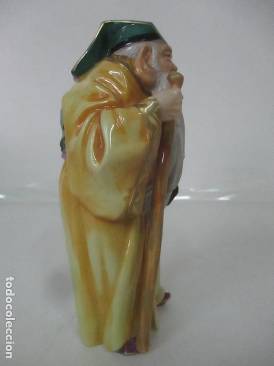 Antigüedades: Curiosas 7 Figuras Orientales - Inmortales - China - Porcelana - Sello Algora - Foto 43 - 166748922