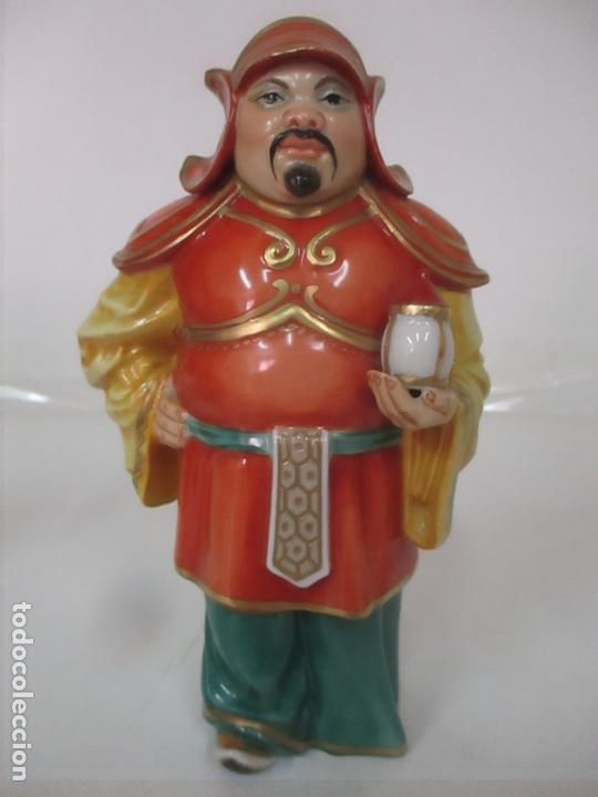 Antigüedades: Curiosas 7 Figuras Orientales - Inmortales - China - Porcelana - Sello Algora - Foto 49 - 166748922