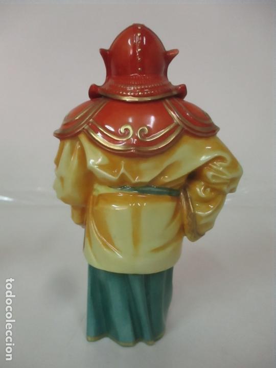 Antigüedades: Curiosas 7 Figuras Orientales - Inmortales - China - Porcelana - Sello Algora - Foto 51 - 166748922