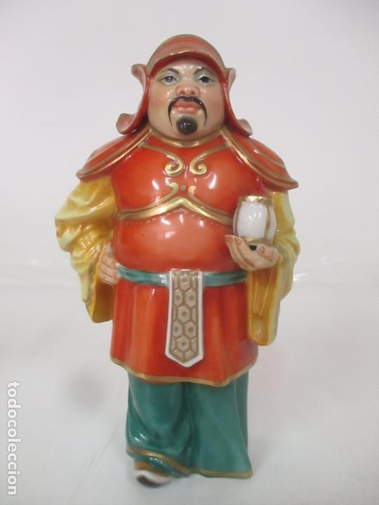Antigüedades: Curiosas 7 Figuras Orientales - Inmortales - China - Porcelana - Sello Algora - Foto 53 - 166748922