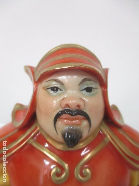 Antigüedades: Curiosas 7 Figuras Orientales - Inmortales - China - Porcelana - Sello Algora - Foto 56 - 166748922