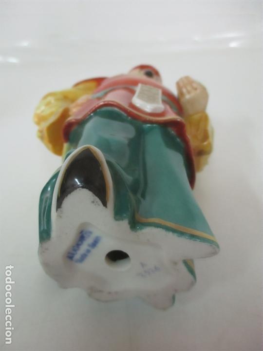 Antigüedades: Curiosas 7 Figuras Orientales - Inmortales - China - Porcelana - Sello Algora - Foto 57 - 166748922