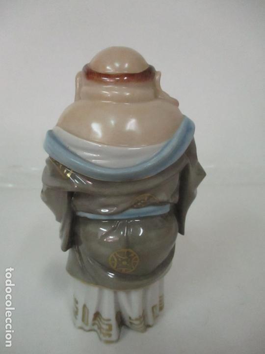 Antigüedades: Curiosas 7 Figuras Orientales - Inmortales - China - Porcelana - Sello Algora - Foto 61 - 166748922