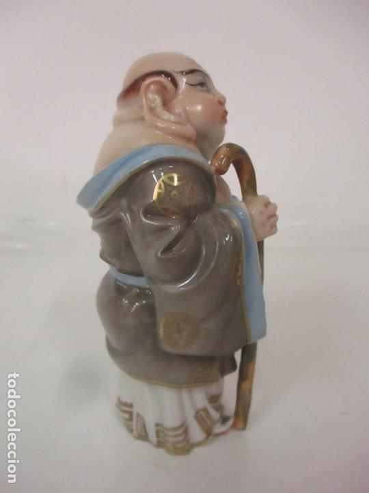 Antigüedades: Curiosas 7 Figuras Orientales - Inmortales - China - Porcelana - Sello Algora - Foto 62 - 166748922